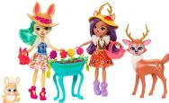 Enchantimals Garden Magic Playset with Danessa Deer & Fluffy Bunny Dolls
